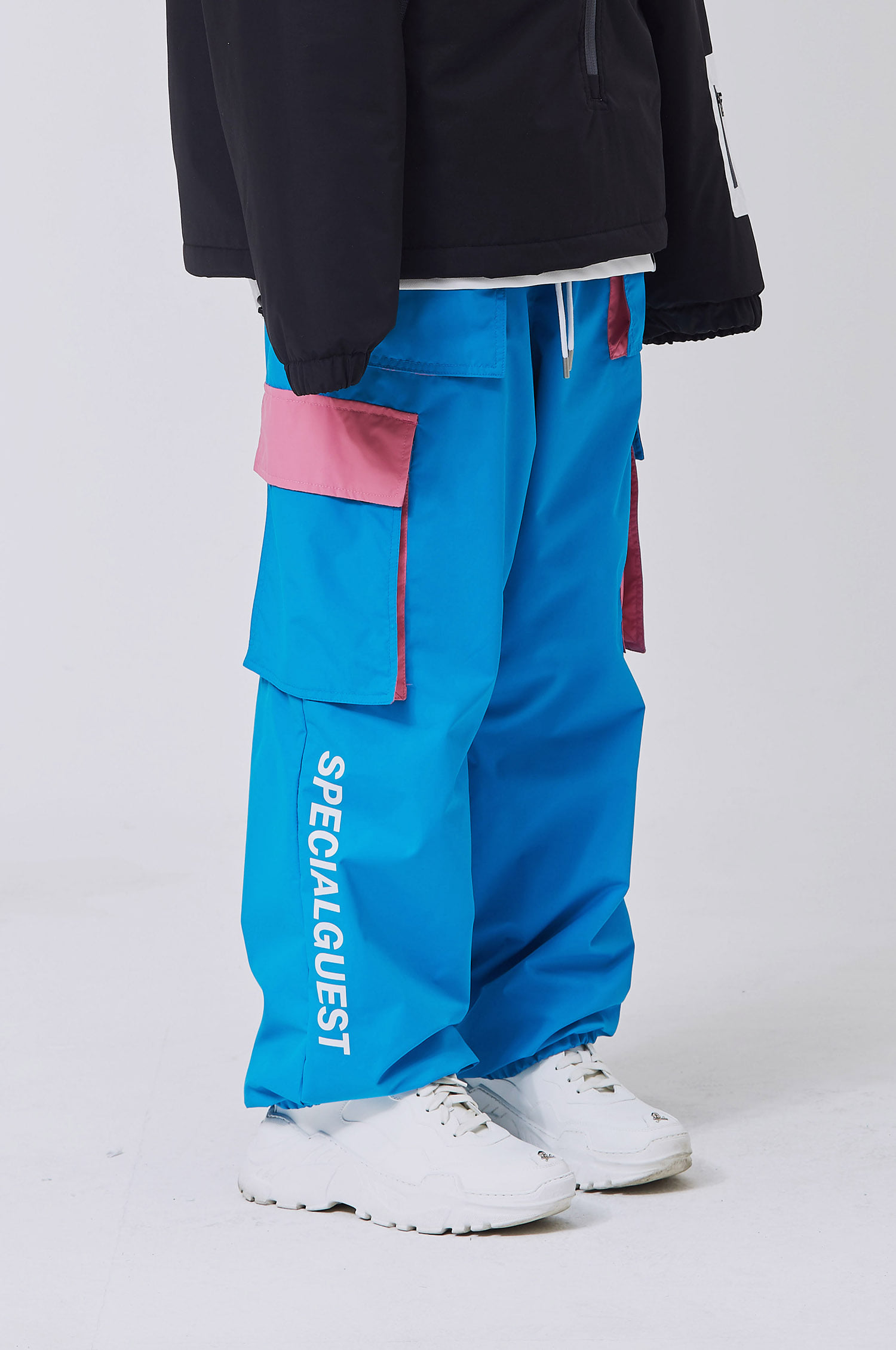 WIDE BAND PANTS BLUE
